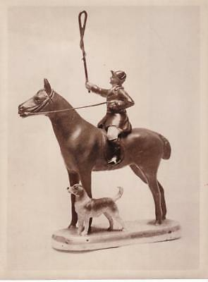England Hunting Party Trophy Trophée chasse à courre cavalier old Photo 1930'