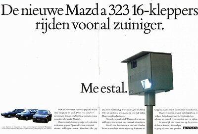 1991 Mazda 323 16V (Dutch, 2pg.) Advertisement (AAE.553)
