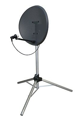 Large Satellite TV Dish Tripod Mount Stand Camping Caravan Sky Freeview + Pegs
