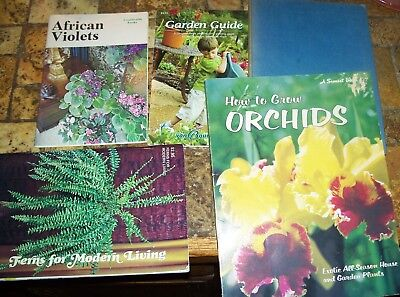 5 Book Lot of Vintage Garden, Flower, Herb books