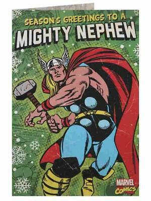 marvel thor mighty nephew new christmas and happy new year greeting card