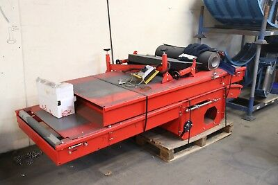 Used Flat Belt Conveyor - Price Includes VAT (Please See Drawing) 850 x 4370mm
