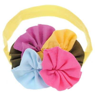 Top Baby Toddler Girl Soft Cotton Colourful Flowers Hair Headband