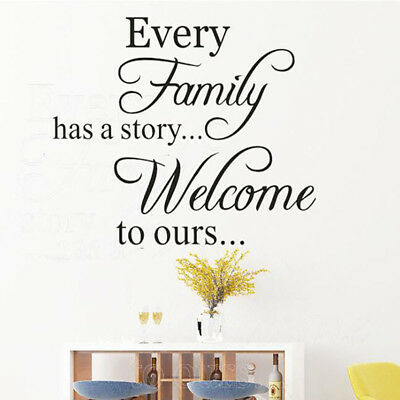 Every Family Has A Story Removable Wall Sticker Art Vinyl Decal Mural Home D