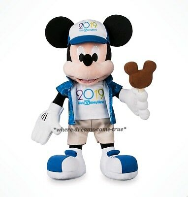 "Walt Disney World Parks Mickey Mouse Plush 2019 15"" w/ ice cream bar (NWT)"