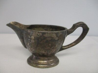 "Antique Krupp Berndorf Small 5 Cl Silverplate Creamer ~ Engraved ""city Bern"""