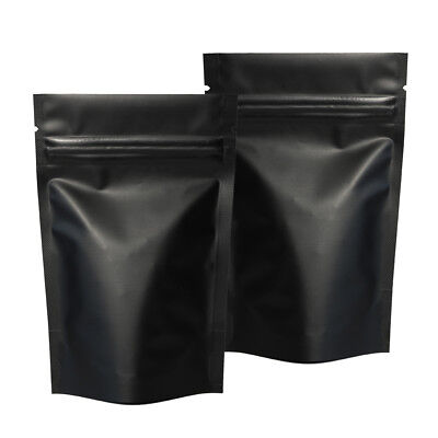 10x15CM Black Ziplock Grip Seal Bags Stand-Up Pouch Smell Free Strong Bag