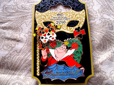 Disney * QUEEN OF HEARTS - NOT SO SCARY HALLOWEEN PARTY 2016 * LE Trading Pin