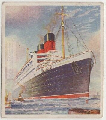 "SS ""Queen Mary"" Cunard Line Britain Luxury Liner Ship  c80 Y/O Trade Ad Card"