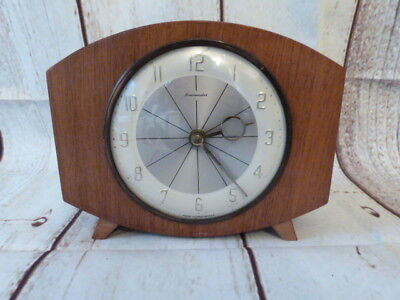 Lovely Vintage Mid Century Timemaster Wind Up Mantel Clock.