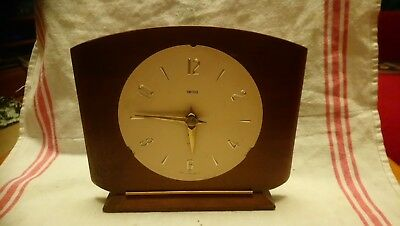 Vintage Smiths Mantel Clock For Spares Or Repairs