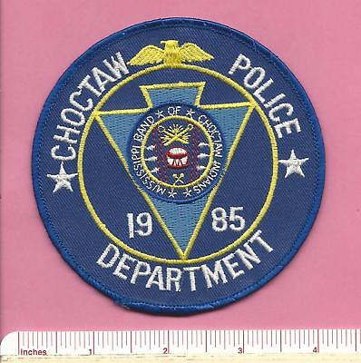 Choctaw Band of Indian Tribe Mississippi State MS Tribal Police Shoulder Patch