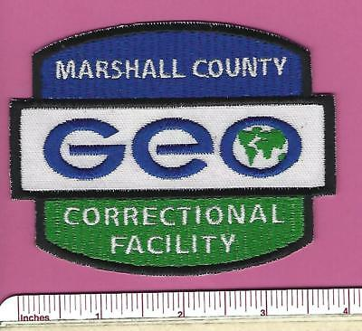 GEO Marshall County Correctional Facility Mississippi MS Security Police Patch