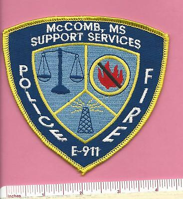 McComb MS Mississippi Support Services Police Fire Shoulder Patch - Pike County