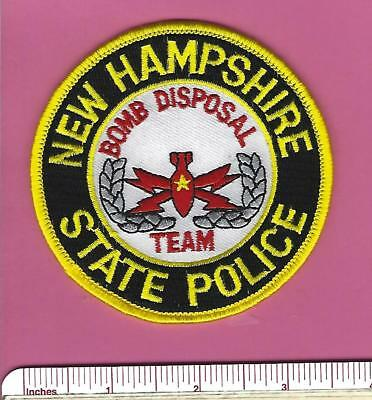 NH New Hampshire State Police Bomb Disposal Team EOD Law Enf. Shoulder Patch