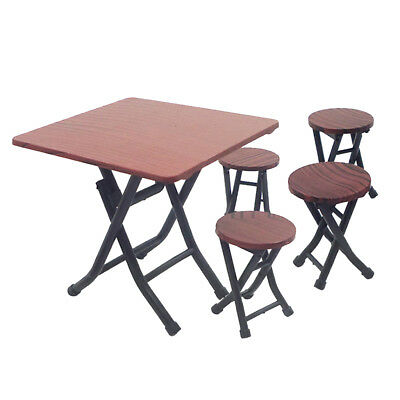1:12 Plastic Dining Table Chairs Dollhouse Miniature Furniture Decoration