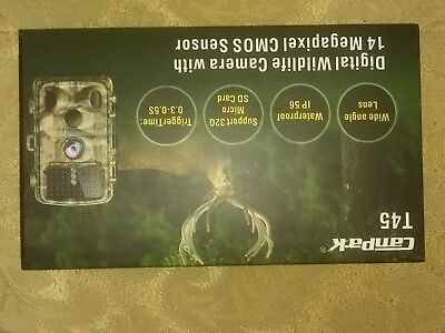 Campark T45 Trail Game Camera 14MP 1080P Waterproof Hunting Scouting Cam