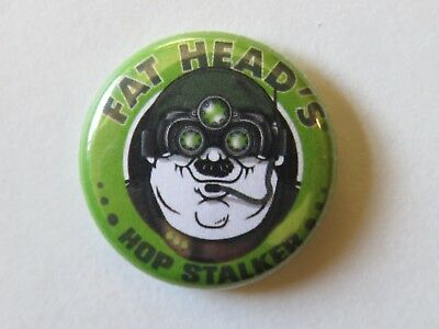 OHIO Collectible BEER BUTTON Pinback />/< FAT HEAD/'S Brewery /& Saloon ~ Cleveland