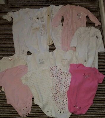 0778ad9c1ba3 BABY GIRLS 0-3 Months Bundle X17 Items Vests Sleep Suits Swaddle And ...