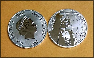 2017 Niue Darth Vader STAR WARS 1 oz SILVER - Live and IN STOCK