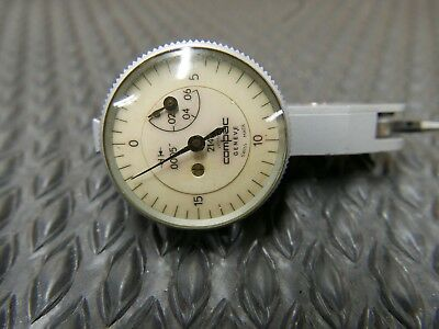 "COMPAC GENEVE SWITZERLAND DIAL INDICATOR 214A .0005"" in Box, NEW Crystal"