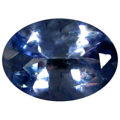 0.71 Ct AAA Grand Style Forme Ovale (7 X 5 mm) Bleuâtre Violet