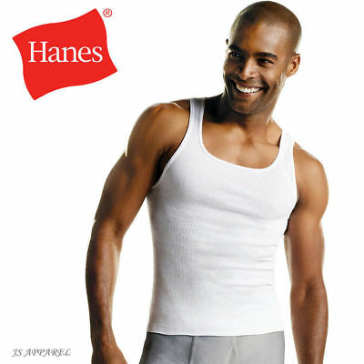 Hanes Men's A Shirt Tank Top Athletic Sizes S - XL 3 Pack 6 Pack 9 12 Pack S-3XL