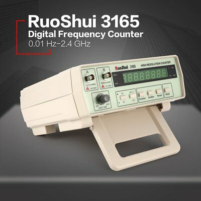 3165 Digital High Precision Radio Frequency Counter Tester Meter 0.01Hz-2.4GHz P