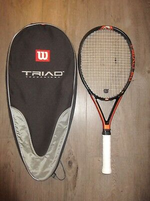 Wilson Triad 6.0 w/ Hammer Technology tennis racquet 4 1/4 grip w/ case
