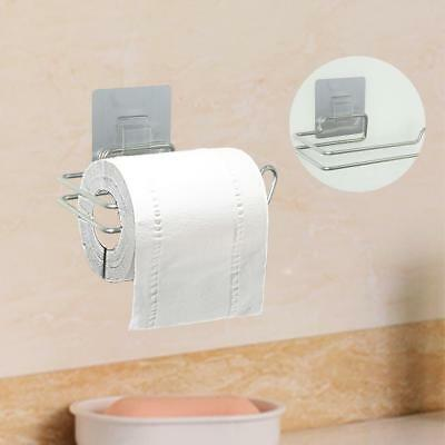 Home Self Adhesive Wall Mounted Stainless Steel Toilet Paper Roll