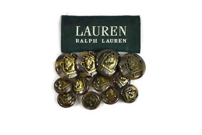 Lot of 12 RALPH LAUREN Tortoise Shell Horse Head Buttons Replacement Blazer