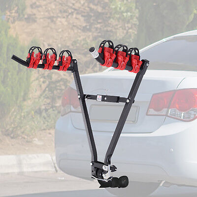 Universal 3 Bike Carrier Towbar Mounted Bicycle Rack Rear Hitch Foldable