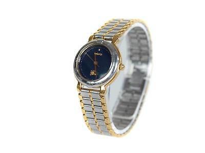 733e8f845d407 Authentic BURBERRY Navy Blue Dial Stainless Steel Women s Quartz Watch  BW7005L