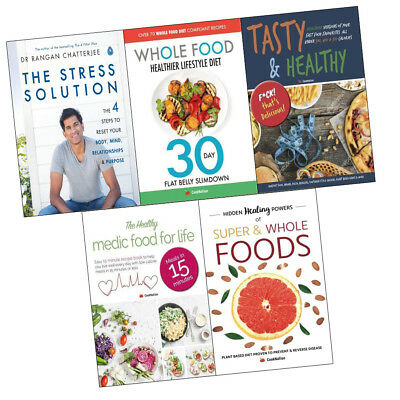 Stress Solution and Healthy Medic Food 5 Books Collection Set Tasty & Healthy