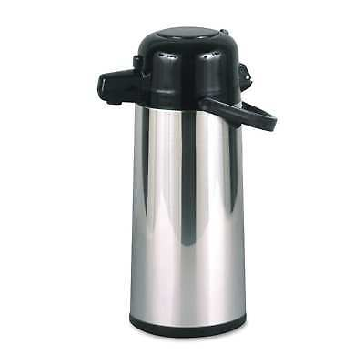 Hormel Commercial Grade 2.2L Airpot with Push-Button Pump Stainless Steel/Black