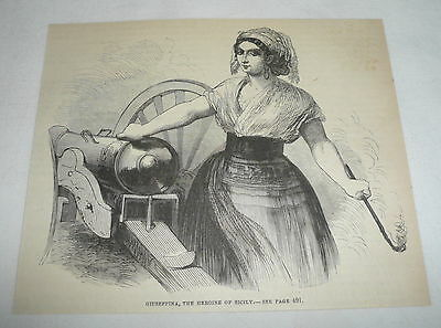 1880 magazine engraving ~ GIUSEPPINA, THE HEROINE OF SICILY
