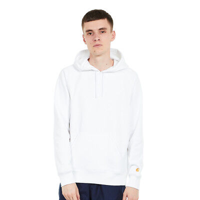 7acc3eb6ba338 Carhartt WIP - Hooded Chase Sweat White   Gold Kapuzenpullover Hooded  Sweater