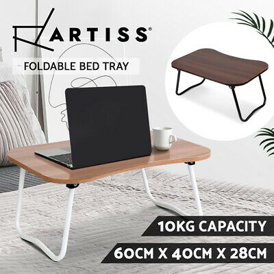 Portable Bed Tray Table Breakfast Tea PC Folding Laptop Desk Stand Wooden Table