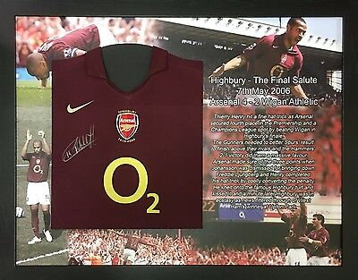 Thierry Henry Framed Signed Arsenal Football Shirt With Proof Allstars Exclusive