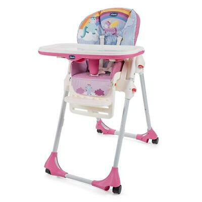 Chicco Polly Easy Highchair 4Wheel (Unicorn) - Suitable From 6 Months