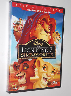 Walt Disney The Lion King II: Simbas Pride : Bluray + DVD   -  USA/CAN
