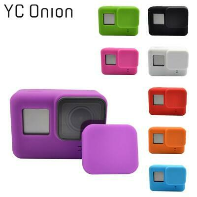 For Go Pro Accessories Action Camera Case Protective Silicone Case Skin +Lens Ca