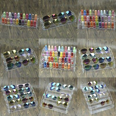 Acrylic Tiers Nail Polish Varnish Bottle Retail Display Stand Holder Case PA