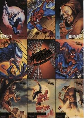 1995 Fleer Ultra Spider-Man 9-Card Promo Sheet - Lot Of 9