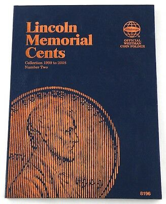 Lincoln Memorial Cents Coin Folder #2 (Collection 1999 to 2008) - Whitman #8196