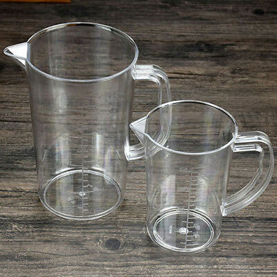 1x 500/1000ml Measuring Cups Transparent Graduated Cup Cooking Kitchen Tools