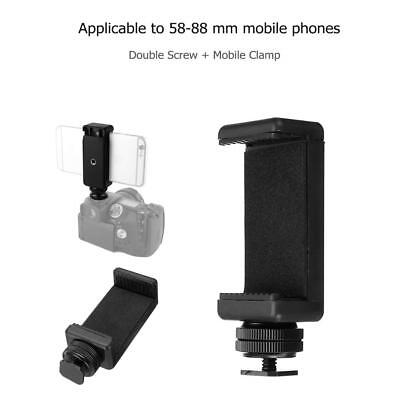 Cell Phone Stand Clip Bracket Holder Mount+Hot Shoe Screw Kit Adapter for Camera