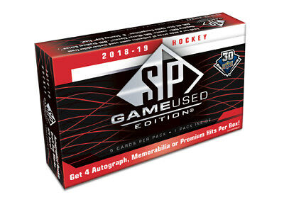 2018-19 Upper Deck SP Game Used Hockey Hobby Box New/Sealed