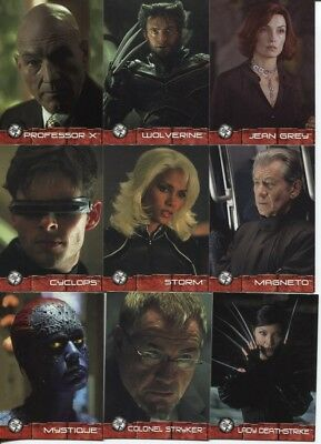 2003 Xmen 2 United (X2) Movie Complete 72-Card Set, Topps