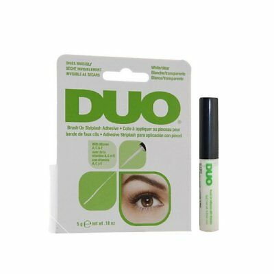 DUO Brush On Striplash Adhesive Glue False Eyelashes 5gm WHITE CLEAR strip lash